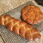 The challah bread recipe for these golden-brown delicacies