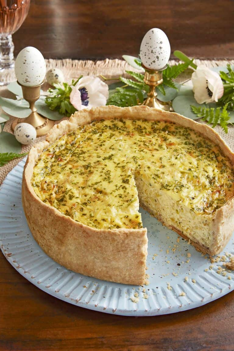 Bacon and Leek Quail Egg Quiche